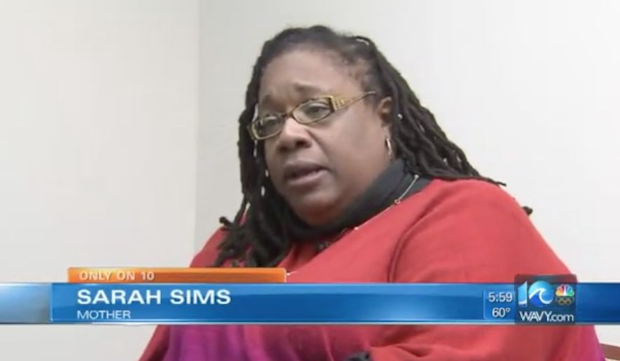 Sarah Sims is facing felony charges after she put a digital audio recorder in her 9-year-old's backpack in an effort to catch her daughter's alleged bullies red-handed. (WAVY-TV)