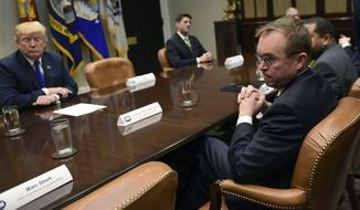"Mick Mulvaney (right) the White House appointee as interim director of the Consumer Financial Protection Bureau, said Tuesday that he doesn't like the way the agency operates. ""I'm just learning about the powers that I have as acting director,"" he said. ""They would frighten most of you. They would probably worry you to think about how little oversight Congress has over me now as I'm the director, how little oversight the committees have over how CFPB functions."" (Associated Press/File)"