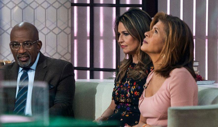 Co-anchors Al Roker, Savannah Guthrie and Hoda Kotb after revelations went public that NBC News had fired host Matt Lauer. (Associated Press) ** FILE **
