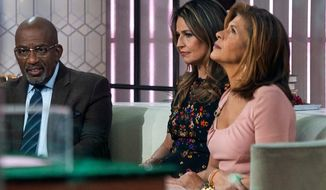 Co-anchors Al Roker, Savannah Guthrie and Hoda Kotb after revelations went public that NBC News had fired host Matt Lauer. (Associated Press)