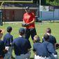 Former Washington Nationals pitcher Craig Stammen instructed kids at a recent Catholic Athletes for Christ summer camp. Photo courtesy of Catholic Athletes for Christ.