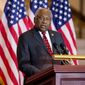 Assistant House Minority Leader Jim Clyburn of S.C., speaks on Capitol Hill in Washington. (AP Photo/Andrew Harnik)