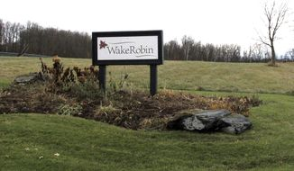 A sign marks the entrance to the Wake Robin retirement community, Wednesday, Nov. 29, 2017, in Shelburne, Vt. Vermont State Police and FBI said they were investigating the source of the deadly toxin ricin that was found at the retirement community. A Wake Robin spokeswoman said residents were safe. (AP Photo/Lisa Rathke)
