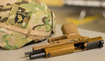 Soldiers from the U.S. Army's 101st Airborne Division fielded its new Modular Handgun System on Nov. 27, 2017. (Image: Facebook, U.S. Army, 101st Airborne Division)