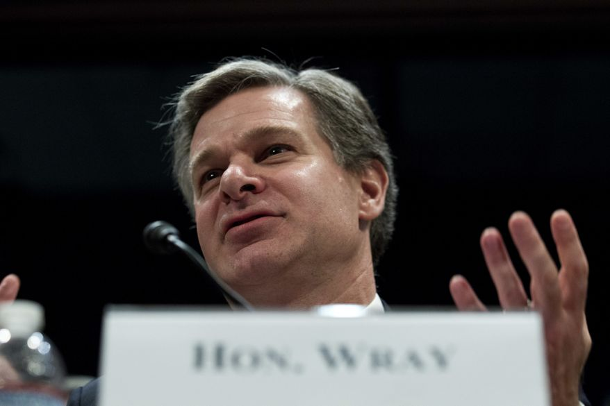 FBI Director Christopher Wray speaks during the House Homeland Security Committee hearing on worldwide security threats on Capitol Hill in Washington, Thursday, Nov. 30, 2017. ( AP Photo/Jose Luis Magana)