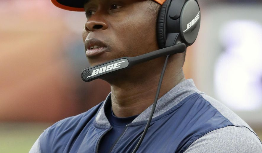 FILE - In this Oct. 1, 2017, file photo, Denver Broncos head coach Vance Joseph watches his team play the Oakland Raiders during an NFL football game, in Denver. The Broncos play at the Miami Dolphins on Sunday. (AP Photo/Jeff Haynes, File)