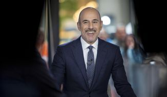 "This Nov. 16, 2017, photo released by NBC shows Matt Lauer during a broadcast of the ""Today,"" show in New York.  NBC News fired the longtime host for ""inappropriate sexual behavior."" Lauer's co-host Savannah Guthrie made the announcement at the top of Wednesday's ""Today"" show. ( Zach Pagano/NBC via AP)"