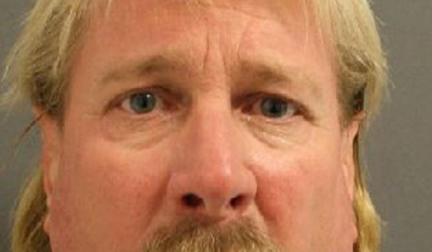 This photo released by the Garfield County Sheriff's Office shows  Michael Lee Syperda. The Colorado man has been charged in the cold-case killing of his estranged wife in Iowa, where they used to live and where she was last seen 17 years ago. Syperda, 52, was taken into custody without incident Thursday, Nov. 30, 2017, near Glenwood Springs, Colo., which is about 130 miles west of Denver, according to the Iowa Public Safety Department. (Garfield County Sheriff's Office via AP)
