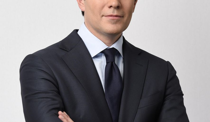"""This photo provided byBroadcasting Inc. shows Jeff Glor in New York.  The """"CBS Evening News"""" gets a new face and an additional run time starting Monday, Dec. 4, 2017.  Glor takes over as the broadcast's anchor replacing Scott Pelley and his sub for the past several months, Anthony Mason.   (Timothy Kuratek/ CBS Broadcasting Inc. via AP)"""