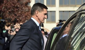 Former Trump national security adviser Michael Flynn leaves federal court in Washington, Friday, Dec. 1, 2017. Flynn pleaded guilty Friday to making false statements to the FBI, the first Trump White House official to make a guilty plea so far in a wide-ranging investigation led by special counsel Robert Mueller.  (AP Photo/Susan Walsh)