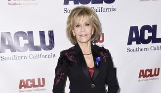 Jane Fonda attends the 2017 ACLU SoCal's Bill of Rights Dinner at the Beverly Wilshire Hotel on Sunday, Dec. 3, 2017, in Beverly Hills, Calif. (Photo by Richard Shotwell/Invision/AP)