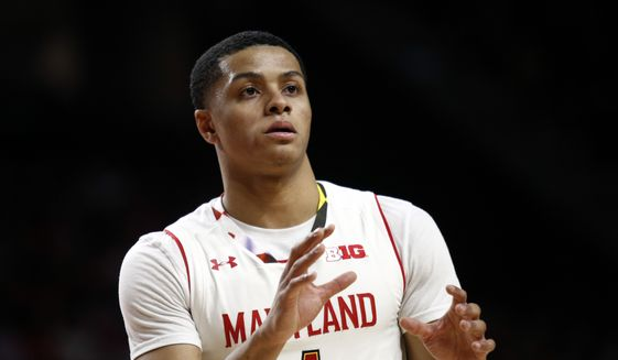Maryland guard Anthony Cowan waits for a pass in the first half of an NCAA college basketball game against Purdue in College Park, Md., Friday, Dec. 1, 2017. (AP Photo/Patrick Semansky) **FILE**