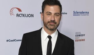"FILE - In this June 16, 2017, file photo, Jimmy Kimmel attends the 30th annual Scleroderma Foundation Benefit at the Beverly Wilshire hotel in Beverly Hills, Calif. Kimmel's 7-month-old son has had a successful second round of heart surgery. ABC released a statement saying Kimmel's son had the surgery Monday, Dec. 4, and the late-night host will take time off from ""Jimmy Kimmel Live"" to be with his family. (Photo by Chris Pizzello/Invision/AP, File)"