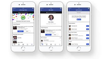 This photo provided by Facebook demonstrates parental controls on Facebook's new Messenger app for kids. Facebook is launching the messaging app for children to chat with their parents and with friends approved by their parents. The free app is aimed at kids under 13, who can't yet have their own accounts under Facebook's rules, though they often do. (Courtesy of Facebook via AP)