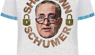 Shutdown Schumer T-shirt Illustration by Greg Groesch/The Washington Times