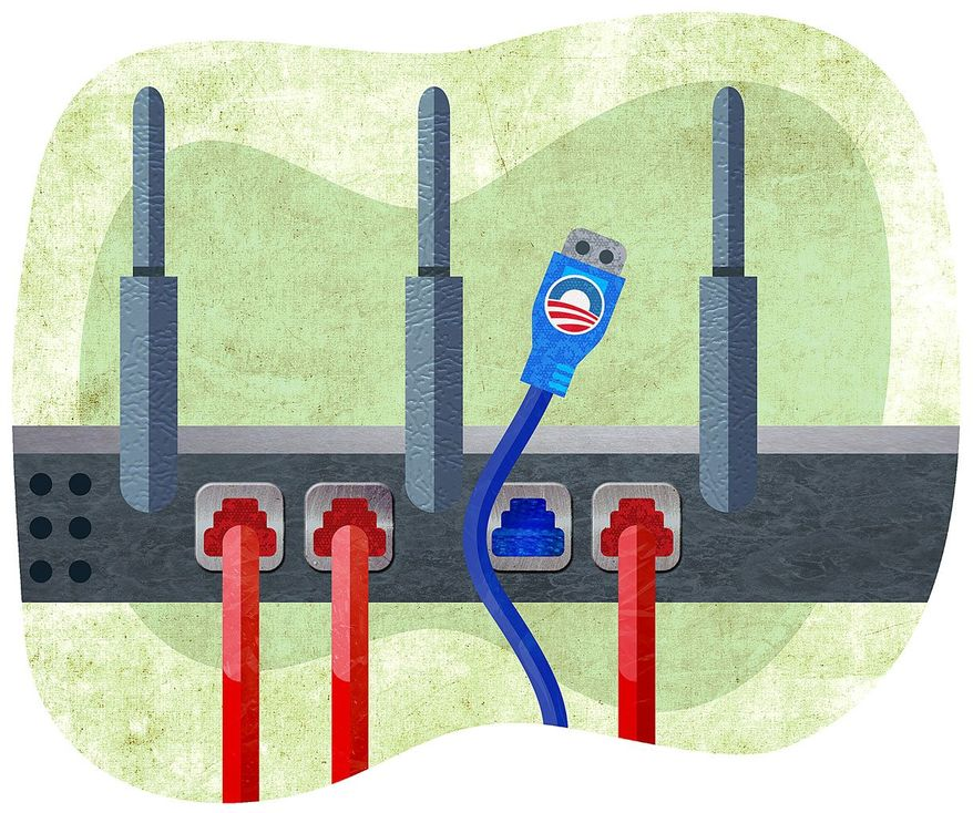Removing Obama Net Neutrality Regulations Illustration by Greg Groesch/The Washington Times