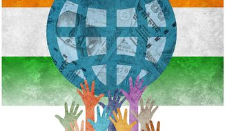 The Crony Castes of India Illustration by Greg Groesch/The Washington Times
