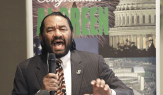 Rep. Al Green, D-Texas, said he'd introduce his resolution to impeach President Trump on Wednesday under a rule that requires the chamber to vote on the issue within two days. If he follows the proper procedures, Republicans will hold a vote on tabling — in effect killing — the proposal during the House's first series of votes on Wednesday, said a GOP leadership aide who spoke on condition of anonymity to describe a decision by party leaders. (Associated Press)