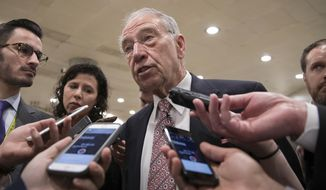 Senate Judiciary Committee Chairman Charles E. Grassley told the White House earlier this week to revoke Brett Talley and Jeff Mateer. (AP Photo/J. Scott Applewhite)