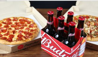 Pizza Hut plans to test a pilot program of beer and wine delivery in the U.S. The program will begin in Phoenix, Arizona, with plans to expand quickly in 2018. (PRNewsfoto/Pizza Hut)