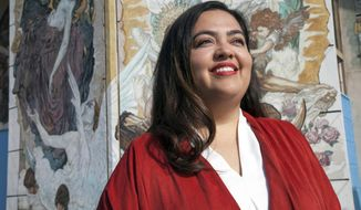 FILE - This 2017 file photo provided by the Wendy Carrillo campaign shows Wendy Carrillo. Carrillo is running in the special election in Los Angeles to replace incumbent Jimmy Gomez, who was elected to the U.S. Congress earlier this year. The election is Tuesday, Dec. 5, 2017. (Rafael Cardenas/Wendy Carrillo For Congress Campaign via AP, File)