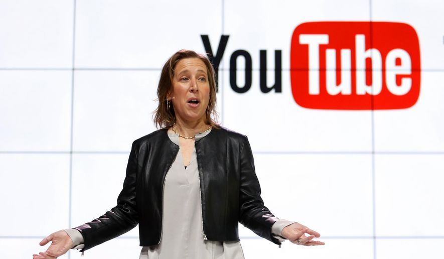 In this Tuesday, Feb. 28, 2017, file photo, YouTube CEO Susan Wojcicki speaks during the introduction of YouTube TV at YouTube Space LA in Los Angeles. (AP Photo/Reed Saxon, File)