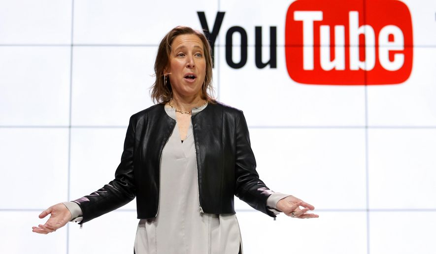 In this Tuesday, Feb. 28, 2017, file photo, YouTube CEO Susan Wojcicki speaks during the introduction of YouTube TV at YouTube Space LA in Los Angeles. In a Monday, Dec. 4, 2017, blog post, Wojcicki said that more than 10,000 workers will be helping curb videos that violate YouTube's policies from the platform. (AP Photo/Reed Saxon, File)
