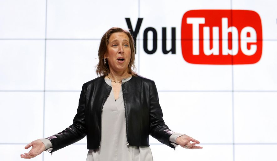 YouTube CEO Susan Wojcicki speaks during the introduction of YouTube TV at YouTube Space LA in Los Angeles, Feb. 28, 2017. (AP Photo/Reed Saxon) ** FILE **