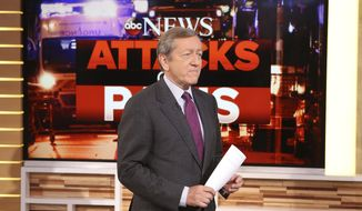 "FILE - In this Nov. 16, 2015, file photo, provided by ABC, correspondent Brian Ross speaks on ""Good Morning America,"" which airs on the ABC Television Network, in New York. Ross will no longer cover stories involving President Donald Trump following his erroneous report last Friday, Dec. 1, 2017, on former national security adviser Michael Flynn. (Fred Lee/ABC via AP, File)"