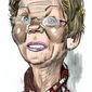 Illustration of Elizabeth Warren by Alexander Hunter/The Washington Times
