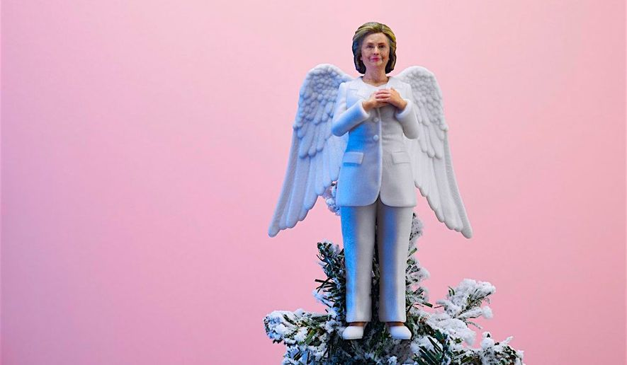 For those who still haven't come to terms with the 2016 election, now there is the Hillary Clinton Tree Topper. (Women to Look Up To)