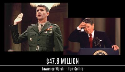 Special Counsels rack up bills: Lawrence Walsh, Iran Contra