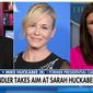 "Mike Huckabee blasted Chelsea Handler as a ""bitter,"" ""lonely"" person after the comedian called his daughter, White House Press Secretary Sarah Huckabee Sanders, a ""proper trollop"" and a ""harlot"" during her Netflix talk show. (Fox News)"