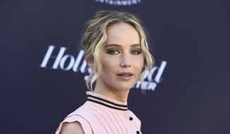 Jennifer Lawrence arrives at The Hollywood Reporter's Women in Entertainment Breakfast at Milk Studios on Wednesday, Dec. 6, 2017, in Los Angeles. (Photo by Jordan Strauss/Invision/AP) ** FILE **