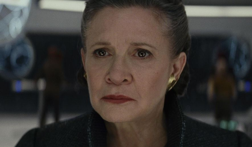 "Actress Carrie Fisher appears as General Leia in ""Star Wars: The Last Jedi"". (Lucasfilm via AP) ** FILE **"