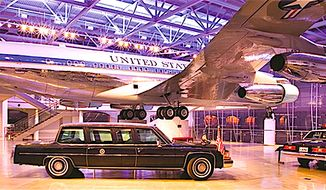 The spectacular Ronald Reagan Presidential Foundation & Institute houses the 40thh president's Air Force One and assorted official vehicles. (Image from Ronald Reagan Presidential Foundation & Institute.)