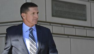Former National Security Adviser Michael Flynn, who has pleaded guilty to lying to the FBI, has not been ruled out for a pardon from President Trump. (Associated Press/File)