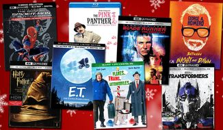 "Gift ideas for movie connoisseurs include ""The Amazing Spider-Man Limited Edition Collection Digibook,"" ""Harry Potter and the Sorcerer's Stone,"" ""E.T. The Extra-Terrestrial 35th Anniversary Gift Set,"" ""The Pink Panther Collection,"" ""Planes, Trains & Automobiles: 30th Anniversary Edition,"" ""Blade Runner: The Final Cut,"" ""George A. Romero Between Night and Dawn: Limited Edition"" and ""Transformers."""