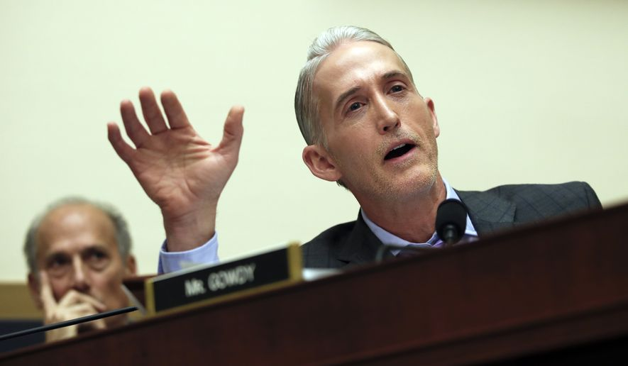 "House Judiciary Committee member Rep. Trey Gowdy, R-S.C., said, ""allegations brought for now or in the future that, while serious, do not allege violations of specific criminal statutes, should be referred to the Judiciary Committee."" (AP Photo/Carolyn Kaster)"