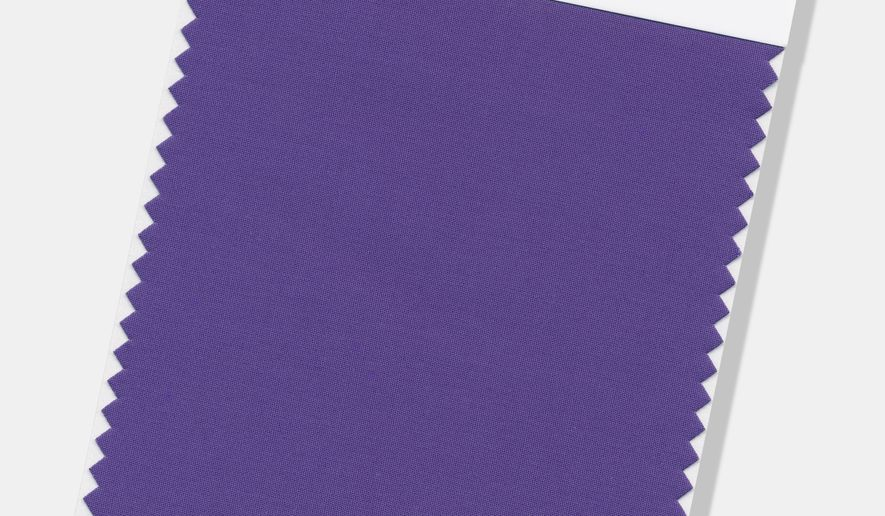 "This image provided by the Pantone Color Institute shows the Pantone Color of the Year for 2018, called ""Ultra Violet."" The color experts at the Carlstadt, New Jersey-based Pantone say the deep purple shade was chosen to evoke a counterculture flair, a grab for originality, ingenuity and visionary thinking. Ultra Violet follows Pantone's 2017 Color of the Year, ""Greenery."" (Pantone Color Institute via AP)"