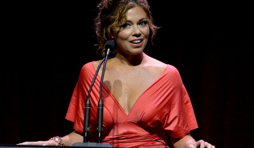 Lauren Sivan speaks at the 67th Los Angeles Area Emmy Awards at the Skirball Cultural Center on Saturday, July 25, 2015. (Photo by Phil Mccarten/Invision for the Television Academy/AP Images)