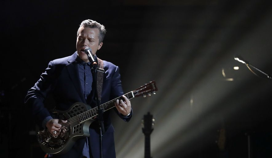Jason Isbell performs during the Americana Honors and Awards show Wednesday, Sept. 13, 2017, in Nashville, Tenn. (AP Photo/Mark Zaleski)