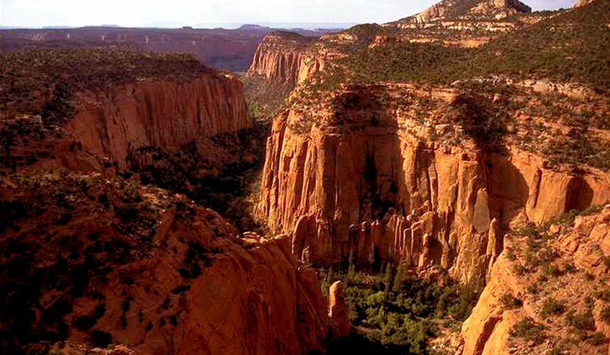 In this undated file photo, the Upper Gulch section of the Escalante Canyons within Utah's Grand Staircase-Escalante National Monument is shown. Outdoor clothing giant Patagonia and other retailers have jumped into a legal and political battle over President Donald Trump's plan to shrink two sprawling Utah national monuments, a fight that would scare off most companies but buoys customers of outdoor brands that value environmental activism. (AP Photo/Douglas C. Pizac, File) **FILE**