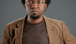 In this undated photo provided by Stony Brook University, Professor Patrice Nganang is shown. According to advocacy group PEN America, the Cameroonian-American writer and university professor has been detained in Cameroon on Thursday, Dec. 7, 2017, as he tried to leave the country after criticizing the government. ( Stony Brook University via AP)