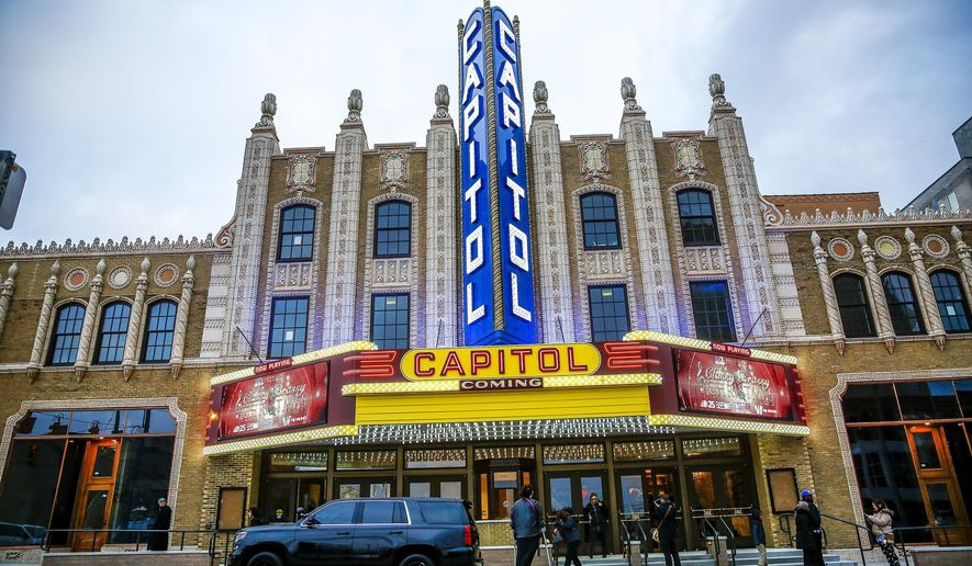 The Capitol Theatre reopened for the first time in almost 20 years after a $37 million renovation project on Thursday, Dec. 7, 2017 in downtown Flint, Mich. (Jake May/The Flint Journal-MLive.com via AP)