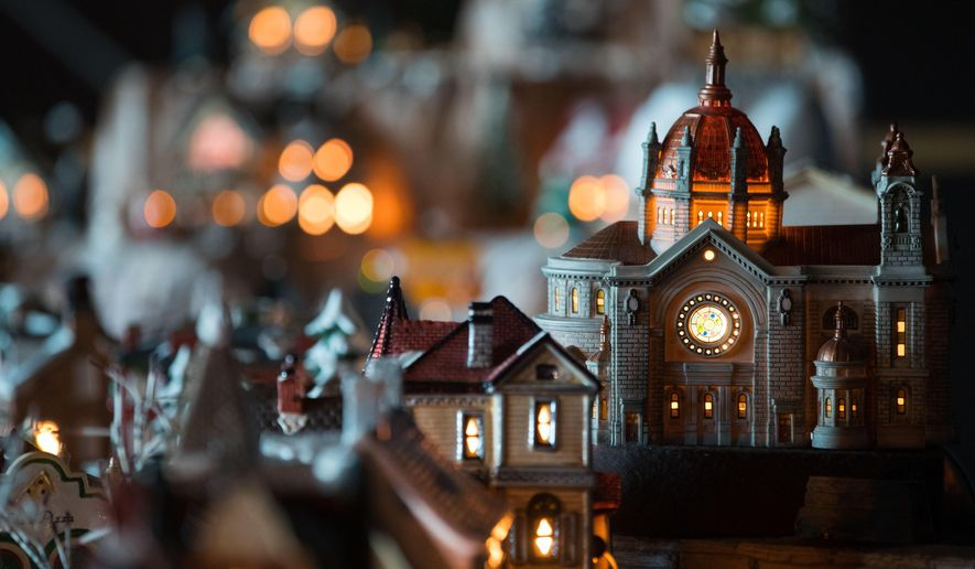 In a Thursday Nov. 30, 2017 photo, a collection of more than 200 miniature buildings is shown at the Strategic Air Command & Aerospace Museum in Ashland, Neb. (Brendan Sullivan/The World-Herald via AP)