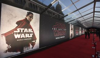 "A general view of atmosphere at the Los Angeles premiere of ""Star Wars: The Last Jedi"" at the Shrine Auditorium on Saturday, Dec. 9, 2017 in Los Angeles. (Photo by Jordan Strauss/Invision/AP)"
