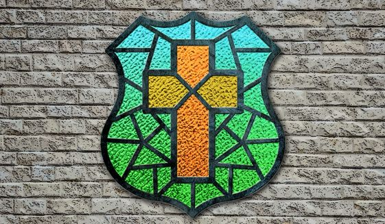 Stained Glass Badge Illustration by Greg Groesch/The Washington Times