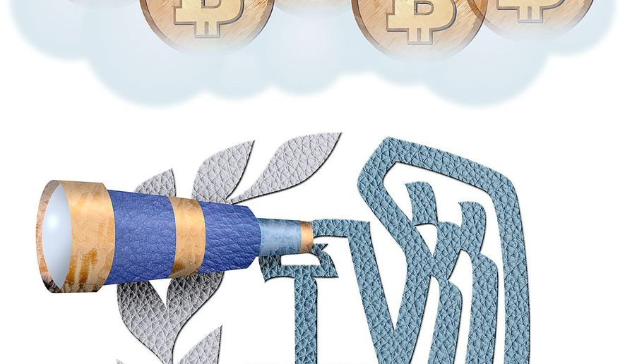 The IRS goes after Bitcoin Illustration by Greg Groesch/The Washington Times