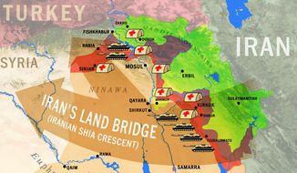 Iraq map (Courtesy of Tom Kelly)